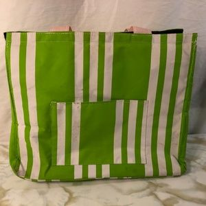 Scout Bags - Scout Insulated Bag Green White Striped Tote